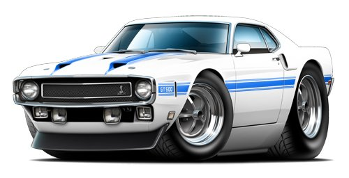 1969 Shelby gt500 Fastback WALL DECAL 3ft long Car Sport Classic Graphic Sticker Man Cave Garage Boys Room Decor