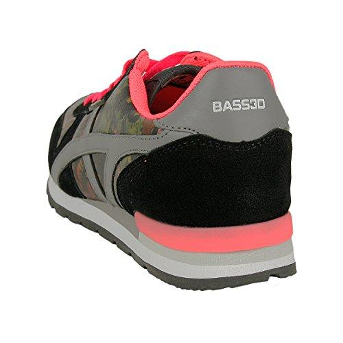 BASSED by Xti Frauen Schuhe Zapato Sra Flower Sneaker schwarz - fällt normal aus Schwarz Pink