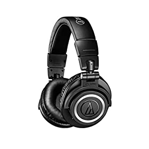 Audio-Technica ATHM50XBT Wireless Bluetooth Over-Ear Headphones, Black