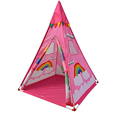 NARMAY Teepee Tent Pink Fantasia Play Tent for Kids Indoor / Outdoor Play - 44 x 44 x 60 inch: Toys & Games