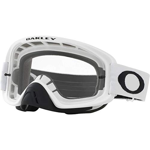Oakley O Frame 2.0 MX Adult Off-Road Motorcycle Goggles - Matte White/Clear & Dark Grey
