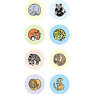 Teacher Created Resources Zoo Animals Mini Stickers, Multi Color (4080): Office Products
