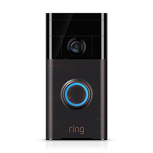 Timbre de timbre de video con Wi-Fi habilitado en bronce veneciano, funciona con Alexa