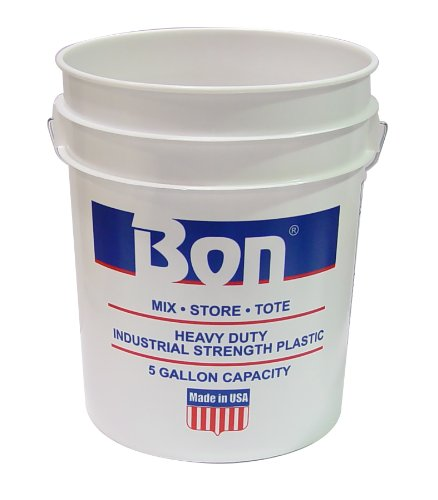 Bon 84-231 5-Gallon Reinforced Plastic Bucket, White