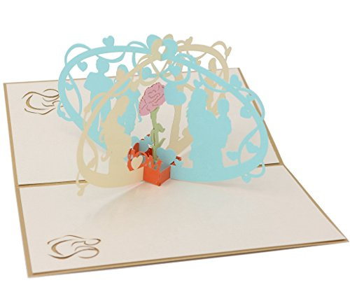 IShareCards Handmade 3D Pop Up Thank You Greeting Card For Mom on Mother's Day or Birthday