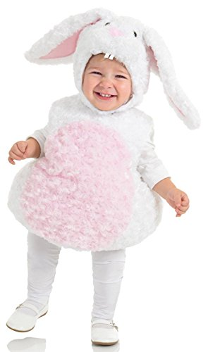 [Underwraps Baby's Rabbit Belly-Babies, White/Pink, Large] (Bunny Costume For 12 Year Old)