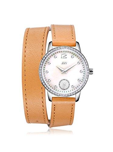 JBW J6324D Women's Savannah Watch - Mother of pearl /Brown