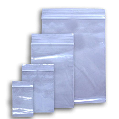 500 Ziplock 10x12 Reclosable Clear Plastic Poly Bags 2 Mil 10