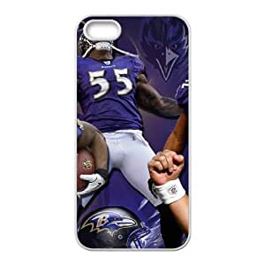 Baltimore Ravens iPhone 5 5s Cell Phone Case White SVD_604379