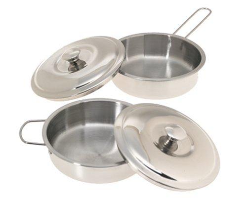 11 Piece Stainless Steel Cookware Set Pots Pans Lids
