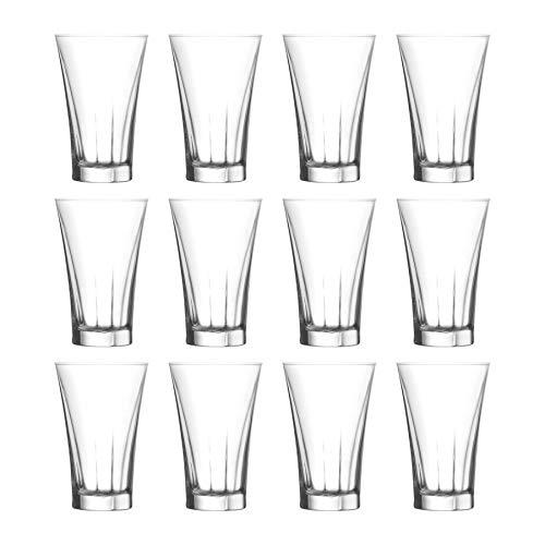 LAV Truva Vintage Liqueur Shot Glasses, 100ml - Set of 12