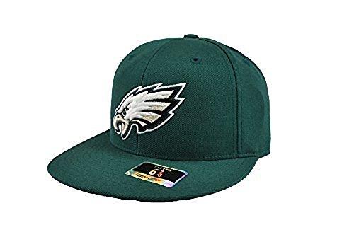 Reebok Men's NFL Hat Philadelphia Eagles Flat Brim Green Fitted Cap (7 3/8) (Nfl Hats Reebok)