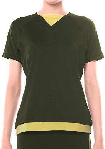 レディース ランニング ヨガ フィットネス Tシャツ pc-213
