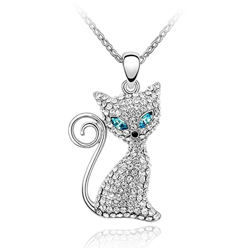 Swarovski Cat Collars (Women Christmas Gift Kitty Cat Necklace with Swarovski Crystal Design)