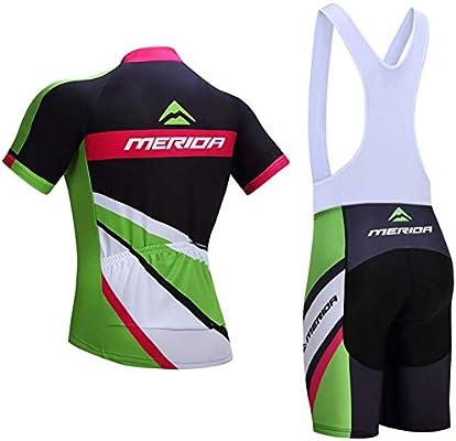 ZHLCYCL Traje Ciclismo Hombre, Maillot Ciclismo y Culotte Ciclismo con 5D Gel Pad para Verano Deportes al Aire Libre Ciclo Bicicleta, MER-Pink, M: Amazon.es: Deportes y aire libre