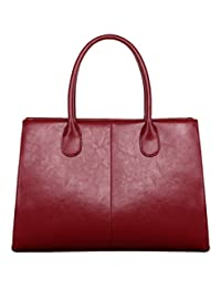SAIERLONG Women's Cross Body Bag Handbag Tote wine red Cow Leather - OL commuter Patent leather