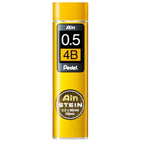 Pentel Mechanical Pencil Lead, Ain Stein, 0.5mm, 4B (C275-4B)