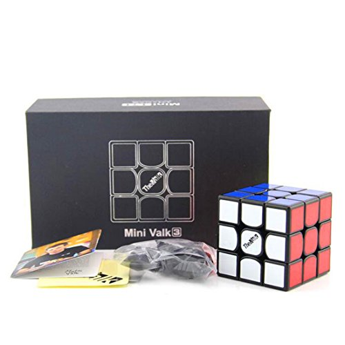 CuberSpeed QiYi Mini Valk 3 3x3x3 Black 4.74cm Magic cube QiYi MoFangGe Mini The Valk 3 3X3X3 Speed cube