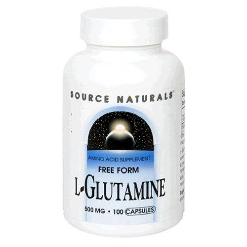 Source Naturals L-Glutamine 500mg, 100 Capsules (Pack de 3)