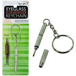 bulk buys MT267 Eyeglass Screwdriver Key Chain, Silver