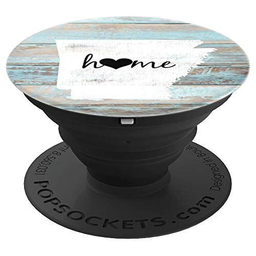 Arkansas Rustic Home Pride US State Distressed Look - PopSockets Grip and Stand for Phones and Tablets