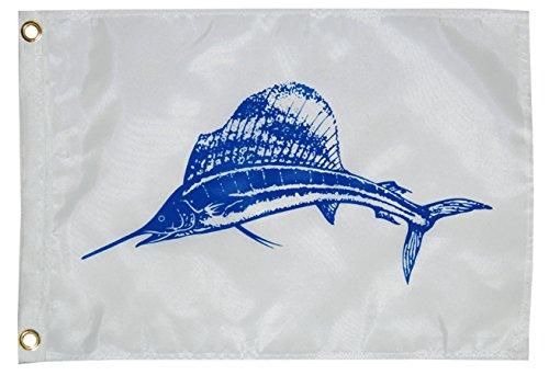 Taylor Made Products 2818, Fish Flag, Nylon, 12 inch x 18 inch, Sailfish ()