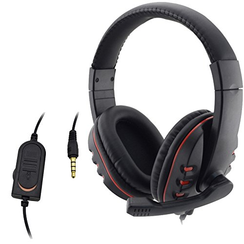 Stereo Gaming Headset Wired 3.5mm Headphone Earphone Music Microphone For PS4 Game PC Chat