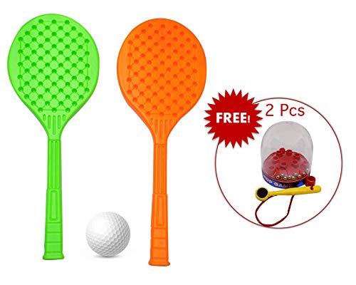 Fully Rackets for Return Gift for Kids Birthday Party, Badminton Racket for Kids Play with Complementary Gift for Kids , 30 Grams, Pack of 1