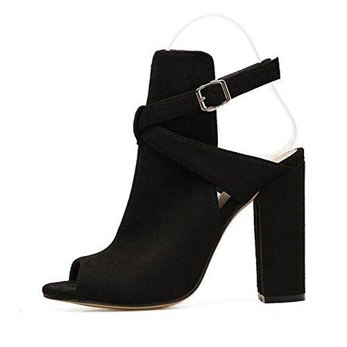 女性の靴夏の魚の口はセクシーなハイヒールの靴で厚くなります2018新しいヨーロッパとアメリカのスタイルのサンダル