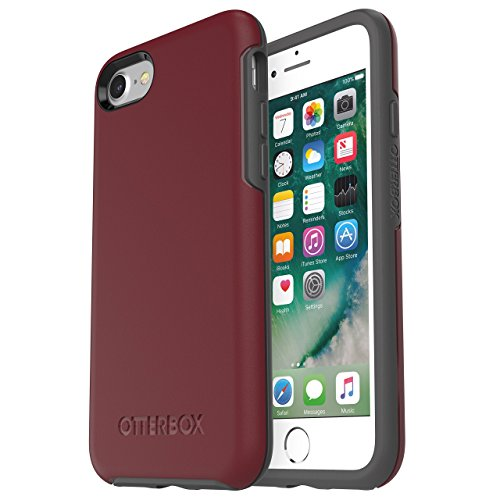 OtterBox Symmetry Series Case for iPhone 8 & iPhone 7 (NOT Plus) - Frustration Free Packaging - FINE Port (Cordovan/Slate Grey)