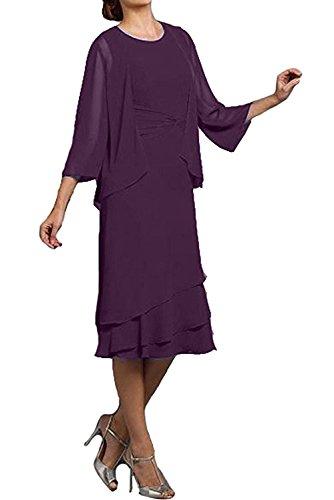 Ivydressing - Vestido - trapecio - para mujer morado 46
