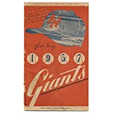 Willie Mays Giants HOF Signed Auto Autographed 1957 Program Unscored - COA - JSA Certified - MLB Programs