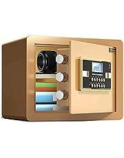 MDHDGAO Small Value Safe, Digital Keypad, LED Light Indicators, Steel Locking Bolts, Emergency Override Key, Black Finish