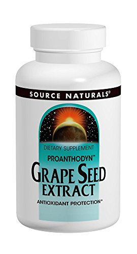 Extract Tablets (SOURCE NATURALS Grape Seed Extract Proanthodyn 100 Mg Tablet, 60 Count)