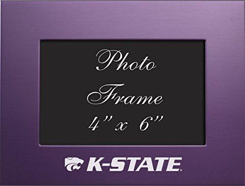 Kansas State University – 4 x 6 gebürstete Metall Bilderrahmen – Violett von Lxg, Inc.