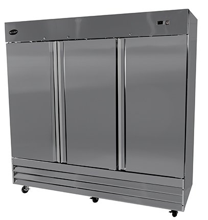 CFD-3FF 81″ Three Section Solid Door Reach in Freezer – 72 cu. ft.