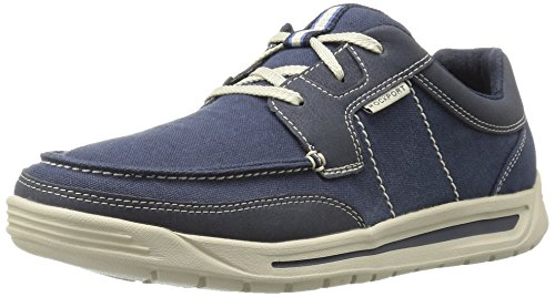 Rockport Men's Randle Moc Toe Oxford, Blue, 10 M US (Toe Moc Rockport)