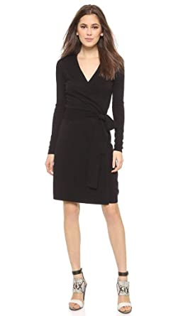 80bddc5d3ab292 Image Unavailable. Image not available for. Color: Diane von Furstenberg  Linda Knit Wool and Cashmere Blend Wrap Dress ...