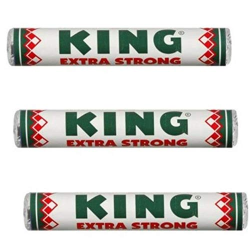 King Peppermints Extra Strong Mint Candy - (3-Pack) - Dutch Holland Mints Candies, 1.55 oz Per Roll
