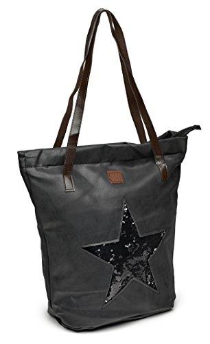 Lady Bag Star Glitzer BERLIN schwarz