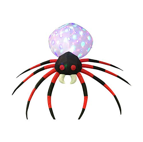 starbluegarden 8Foot Long Halloween Inflatable Air Blown Projection Kaleidoscope Spider Lighted for Home Yard Garden Indoor and Outdoor Decoration -