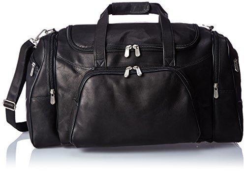 Piel Leather Sports Duffel, Black, One Size by Piel Leather