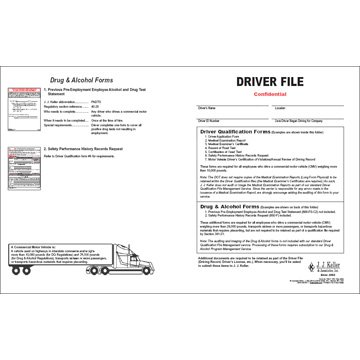 Driver Qualification File - Services Edition (Qty: 3 Units)