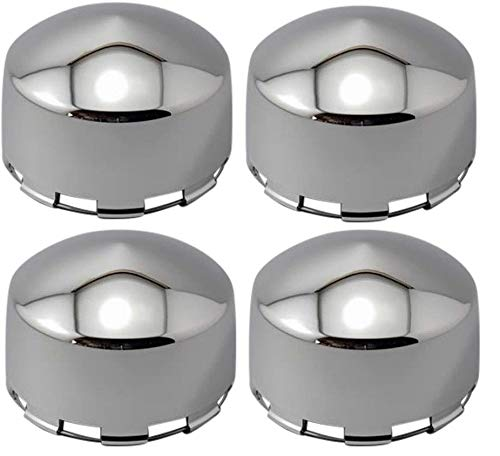 (Aftermarket Set of 4 Weld Racing EVO 8 Lug Wheels 614-4930 or 99-4930 or 89-4930 Wheel Rim Chrome Center Caps)