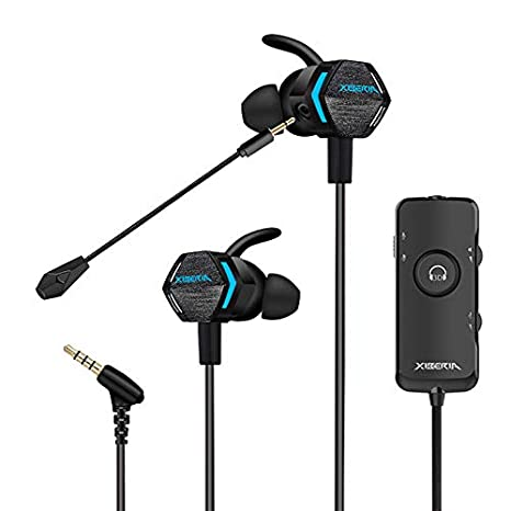 Stereo Bass Gaming Earbuds with Detachable Noise Cancelling Mic, 4D  Vibration, 7 1 Surround Stereo Sound, Light Weight USB Headphones by  Xiberia MG-2