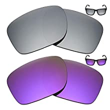 Mryok 2 Pair Polarized Replacement Lenses for Oakley Holbrook Sunglass - Options