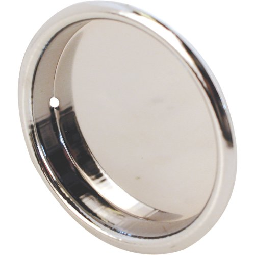 8-Inch Round Closet Door Pull Handle, Chrome Plated,(Pack of 2) ()