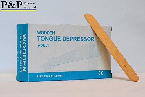 TOUNGE DEPRESSORS ( 12 BOXES = 1200 PCS ) MADE OF HIGH GRADE BIRCH, WOODEN CRAFT STICKS by P&P Medical Surgical (Image #3)