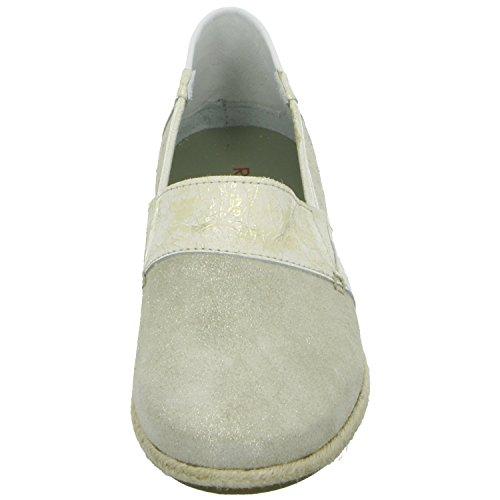 RED BOXX 61.241 Damen Slipper Casual Grau Weiß