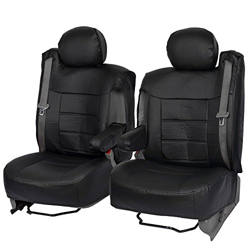 t Covers Luxury Leatherette for Car Truck Van - Armrest & Integrated Seatbelt ()